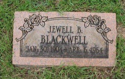BLACKWELL, JEWELL B - Claiborne County, Louisiana | JEWELL B BLACKWELL - Louisiana Gravestone Photos