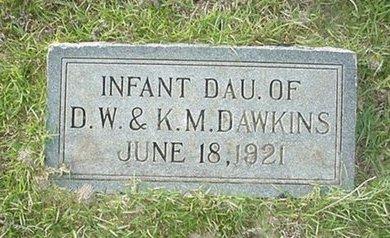 DAWKINS, INFANT DAUGHTER - Claiborne County, Louisiana | INFANT DAUGHTER DAWKINS - Louisiana Gravestone Photos