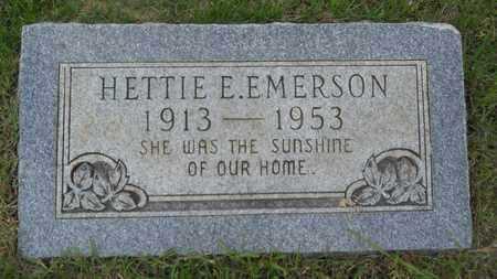 EMERSON, HETTIE E - Claiborne County, Louisiana   HETTIE E EMERSON - Louisiana Gravestone Photos
