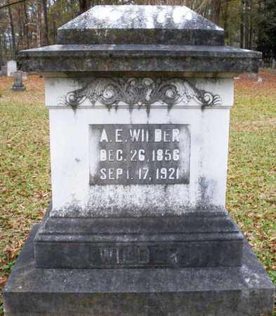 WILDER, A E - Claiborne County, Louisiana   A E WILDER - Louisiana Gravestone Photos