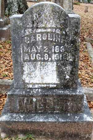 WILDER, CAROLINE - Claiborne County, Louisiana | CAROLINE WILDER - Louisiana Gravestone Photos