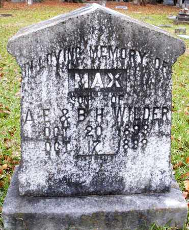 WILDER, MAX - Claiborne County, Louisiana | MAX WILDER - Louisiana Gravestone Photos