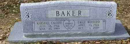 BAKER, MARSHALL CALCOTE, SR - De Soto County, Louisiana | MARSHALL CALCOTE, SR BAKER - Louisiana Gravestone Photos
