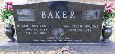 BAKER, ROBERT SCRIVEN, SR - De Soto County, Louisiana | ROBERT SCRIVEN, SR BAKER - Louisiana Gravestone Photos