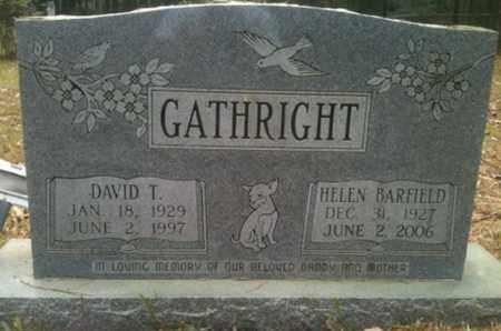 GATHRIGHT, DAVID T - De Soto County, Louisiana | DAVID T GATHRIGHT - Louisiana Gravestone Photos