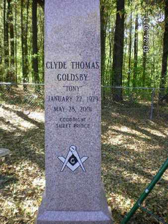 GOLDSBY, CLYDE THOMAS - De Soto County, Louisiana | CLYDE THOMAS GOLDSBY - Louisiana Gravestone Photos