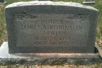 ROBINSON LEWIS, LORENA - De Soto County, Louisiana   LORENA ROBINSON LEWIS - Louisiana Gravestone Photos