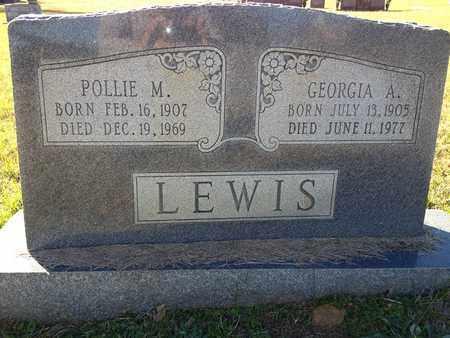 LEWIS, POLLIE M - De Soto County, Louisiana | POLLIE M LEWIS - Louisiana Gravestone Photos