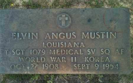 MUSTIN, ELVIN ANGUS (VETERAN 2 WARS) - De Soto County, Louisiana | ELVIN ANGUS (VETERAN 2 WARS) MUSTIN - Louisiana Gravestone Photos