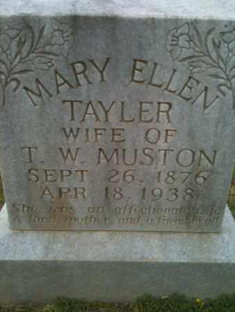 TAYLER MUSTON, MARY ELLEN - De Soto County, Louisiana   MARY ELLEN TAYLER MUSTON - Louisiana Gravestone Photos