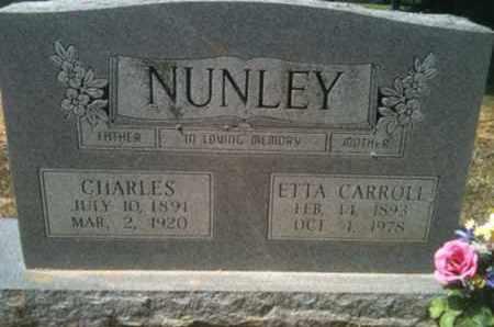 NUNLEY, CHARLES - De Soto County, Louisiana | CHARLES NUNLEY - Louisiana Gravestone Photos