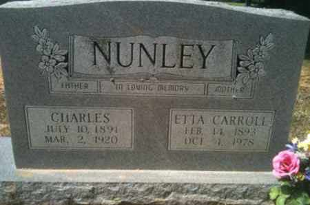 CARROLL NUNLEY, ETTA - De Soto County, Louisiana | ETTA CARROLL NUNLEY - Louisiana Gravestone Photos
