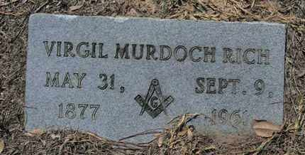 RICH, VIRGIL MURDOCH - De Soto County, Louisiana | VIRGIL MURDOCH RICH - Louisiana Gravestone Photos