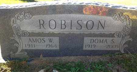 ROBISON, AMOS W - De Soto County, Louisiana | AMOS W ROBISON - Louisiana Gravestone Photos
