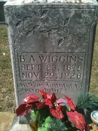 WIGGINS, B A - De Soto County, Louisiana   B A WIGGINS - Louisiana Gravestone Photos