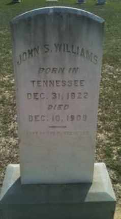 WILLIAMS, JOHN S - De Soto County, Louisiana   JOHN S WILLIAMS - Louisiana Gravestone Photos