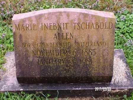 INEBNIT TSCHABOLD ALLEN, MARIE - East Carroll County, Louisiana   MARIE INEBNIT TSCHABOLD ALLEN - Louisiana Gravestone Photos