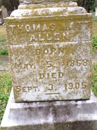 ALLEN, THOMAS WATT - East Carroll County, Louisiana   THOMAS WATT ALLEN - Louisiana Gravestone Photos