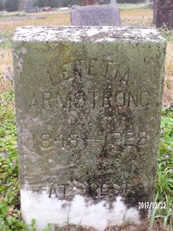 RUFNISO ARMSTRONG, LETITIA TERSESA - East Carroll County, Louisiana | LETITIA TERSESA RUFNISO ARMSTRONG - Louisiana Gravestone Photos