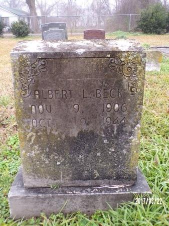 BECK, ALBERT LESLIE - East Carroll County, Louisiana   ALBERT LESLIE BECK - Louisiana Gravestone Photos