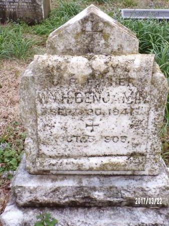 BENJAMIN, WILLIAM H - East Carroll County, Louisiana   WILLIAM H BENJAMIN - Louisiana Gravestone Photos