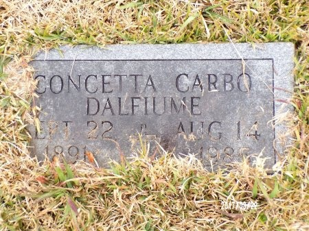CARBO DALFIUME, CONCETTA - East Carroll County, Louisiana | CONCETTA CARBO DALFIUME - Louisiana Gravestone Photos