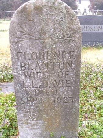 DAVIE, FLORENCE  - East Carroll County, Louisiana | FLORENCE  DAVIE - Louisiana Gravestone Photos