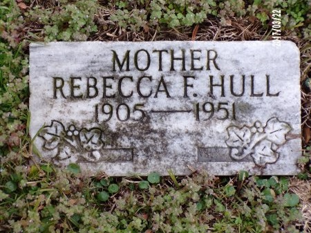 HULL, REBECCA F - East Carroll County, Louisiana   REBECCA F HULL - Louisiana Gravestone Photos