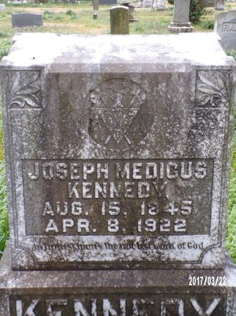 KENNEDY, JOSEPH MEDICUS (CLOSE UP) - East Carroll County, Louisiana | JOSEPH MEDICUS (CLOSE UP) KENNEDY - Louisiana Gravestone Photos