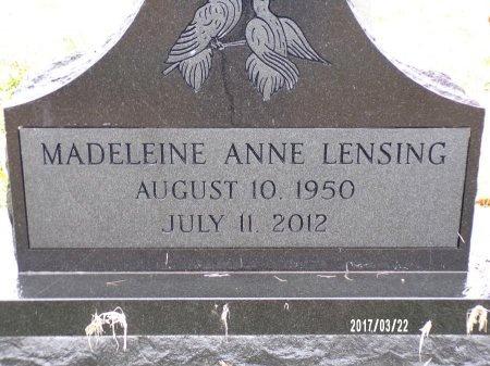 LENSING, MADELEINE ANNE (CLOSE UP) - East Carroll County, Louisiana   MADELEINE ANNE (CLOSE UP) LENSING - Louisiana Gravestone Photos