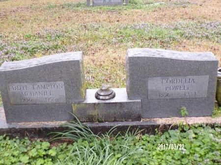 LAMPTON MCDANIEL, EDDYE - East Carroll County, Louisiana   EDDYE LAMPTON MCDANIEL - Louisiana Gravestone Photos
