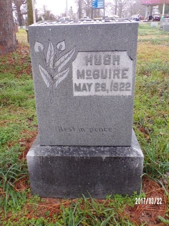 MCGUIRE, HUGH - East Carroll County, Louisiana | HUGH MCGUIRE - Louisiana Gravestone Photos
