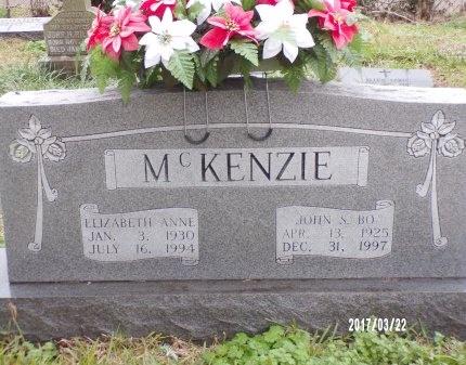 MCKENZIE, ELIZABETH ANNE - East Carroll County, Louisiana | ELIZABETH ANNE MCKENZIE - Louisiana Gravestone Photos