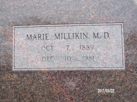 MILLIKIN, MARIE, MD (CLOSE UP) - East Carroll County, Louisiana | MARIE, MD (CLOSE UP) MILLIKIN - Louisiana Gravestone Photos