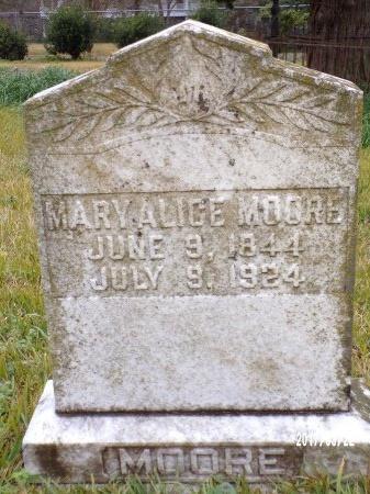 MOORE, MARY ALICE - East Carroll County, Louisiana | MARY ALICE MOORE - Louisiana Gravestone Photos
