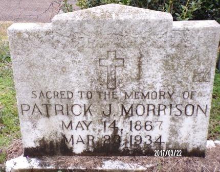 MORRISON, PATRICK J - East Carroll County, Louisiana | PATRICK J MORRISON - Louisiana Gravestone Photos
