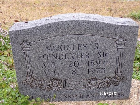POINDEXTER, MCKINLEY S - East Carroll County, Louisiana | MCKINLEY S POINDEXTER - Louisiana Gravestone Photos