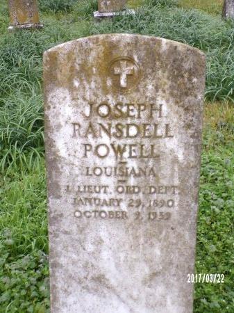 POWELL  , JOSEPH RANSDELL  (VETERAN) - East Carroll County, Louisiana   JOSEPH RANSDELL  (VETERAN) POWELL   - Louisiana Gravestone Photos