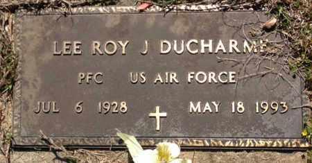 DUCHARME, LEE ROY J (VETERAN) - East Feliciana County, Louisiana   LEE ROY J (VETERAN) DUCHARME - Louisiana Gravestone Photos