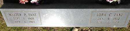 FANT, WALTER P - East Feliciana County, Louisiana | WALTER P FANT - Louisiana Gravestone Photos
