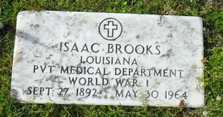 BROOKS  , ISAAC    (VETERAN WWI) - Franklin County, Louisiana | ISAAC    (VETERAN WWI) BROOKS   - Louisiana Gravestone Photos