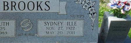 "BROOKS, SYDNEY ILLE ""NUMPS"" (CLOSE UP) - Franklin County, Louisiana 
