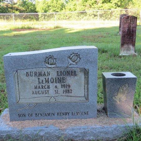 LEMOINE, BURMAN LIONEL - Grant County, Louisiana | BURMAN LIONEL LEMOINE - Louisiana Gravestone Photos