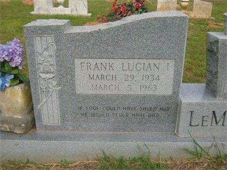 LEMOINE, FRANK LUCIAN (CLOSE UP) - Grant County, Louisiana   FRANK LUCIAN (CLOSE UP) LEMOINE - Louisiana Gravestone Photos
