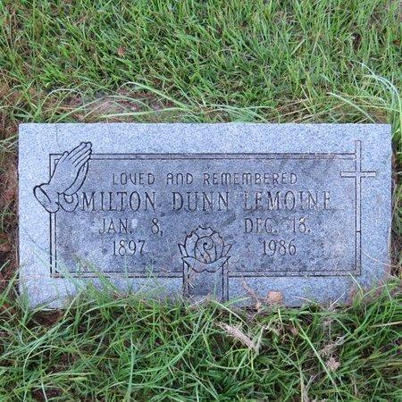 LEMOINE, MILTON DUNN - Grant County, Louisiana | MILTON DUNN LEMOINE - Louisiana Gravestone Photos
