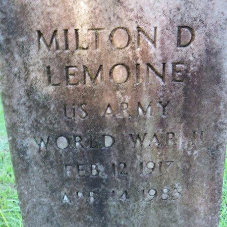 LEMOINE, MILTON D (CLOSE UP) - Grant County, Louisiana | MILTON D (CLOSE UP) LEMOINE - Louisiana Gravestone Photos