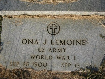 LEMOINE, ONA JOE (VETERIAN WWI) - Grant County, Louisiana | ONA JOE (VETERIAN WWI) LEMOINE - Louisiana Gravestone Photos