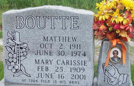 BOUTTE, MATTHEW - Iberia County, Louisiana | MATTHEW BOUTTE - Louisiana Gravestone Photos