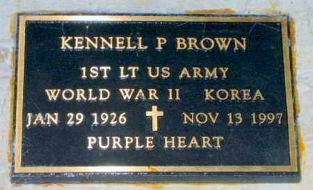 BROWN, KENNELL P (VETERAN 2 WARS) - Iberia County, Louisiana | KENNELL P (VETERAN 2 WARS) BROWN - Louisiana Gravestone Photos