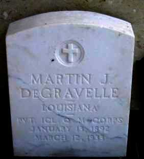 DEGRAVELLE, MARTIN K (VETERAN) - Iberia County, Louisiana   MARTIN K (VETERAN) DEGRAVELLE - Louisiana Gravestone Photos